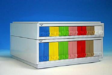 Filing cabinet for blocks ABS havana