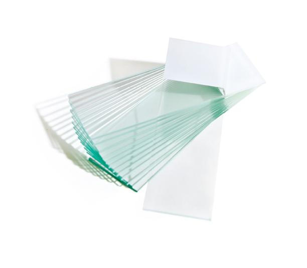Microscope slides one end, double frosted ground edges 26x76