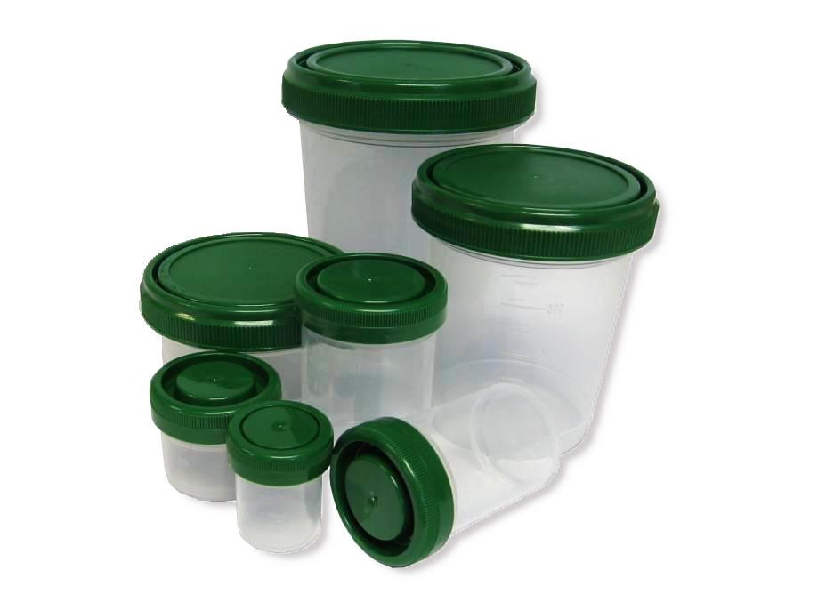 Contenedores prellenados de formol 4 % - 1000 ml